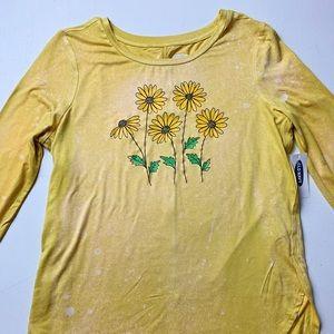 NWT Custom Sunflower Design T-Shirt